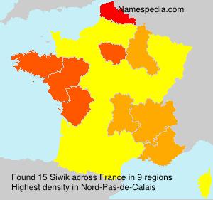 Surname Siwik in France