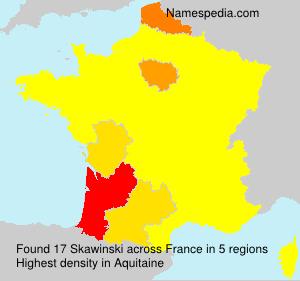 Surname Skawinski in France