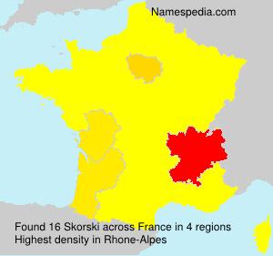 Surname Skorski in France