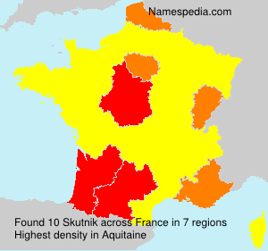 Surname Skutnik in France