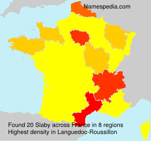 Surname Slaby in France