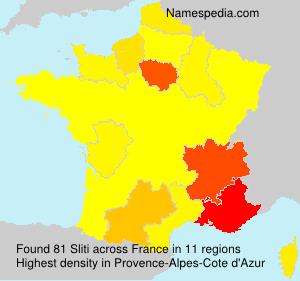 Surname Sliti in France