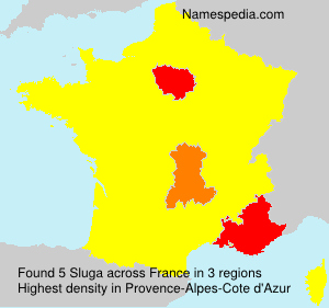 Surname Sluga in France
