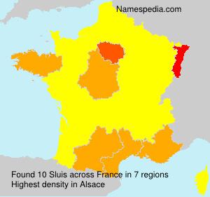 Surname Sluis in France