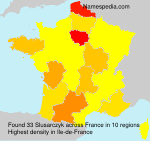 Surname Slusarczyk in France