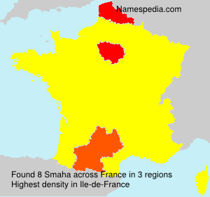Surname Smaha in France