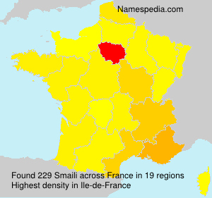 Surname Smaili in France