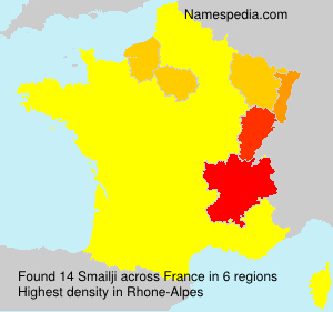 Surname Smailji in France