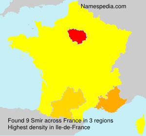 Surname Smir in France