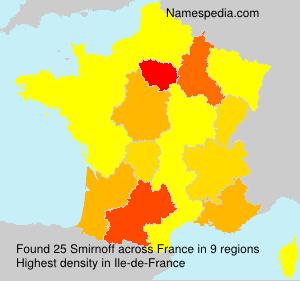 Surname Smirnoff in France