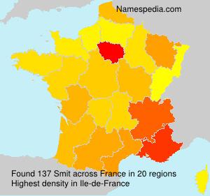 Surname Smit in France