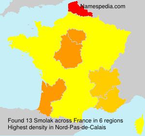Surname Smolak in France