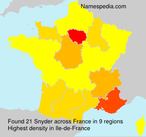 Surname Snyder in France