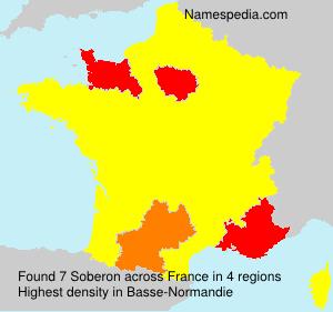 Familiennamen Soberon - France