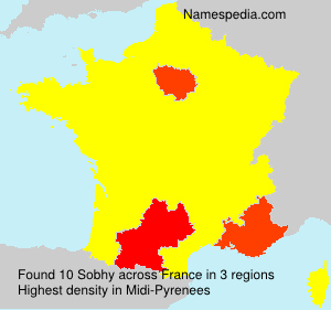 Surname Sobhy in France