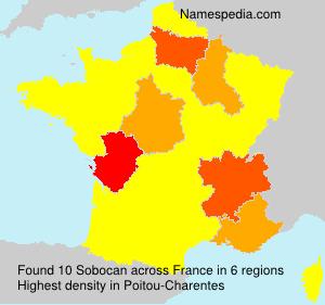Surname Sobocan in France