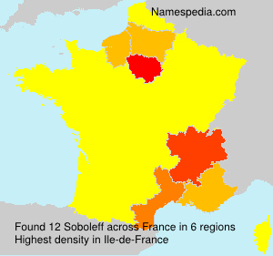 Surname Soboleff in France