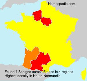 Surname Sodigne in France
