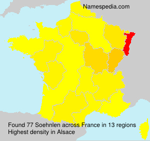 Surname Soehnlen in France