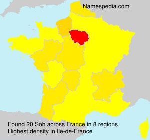 Surname Soh in France