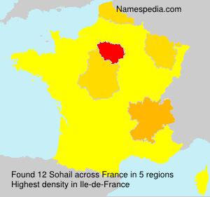 Surname Sohail in France