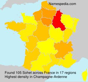 Surname Sohet in France