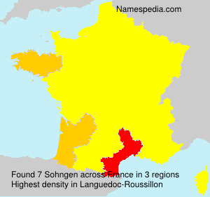 Surname Sohngen in France