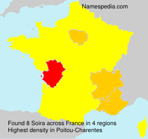 Surname Soira in France