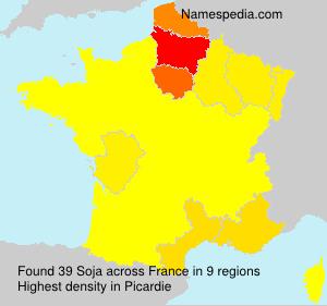 Surname Soja in France