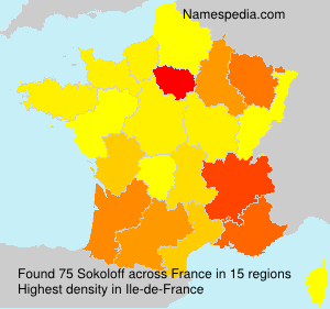Surname Sokoloff in France