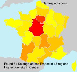 Surname Solange in France