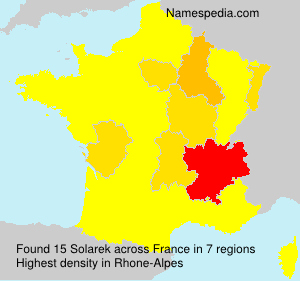 Surname Solarek in France