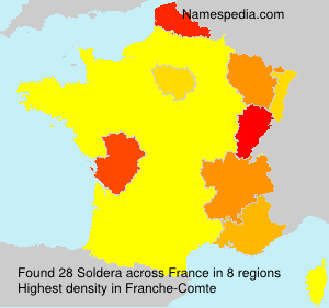 Surname Soldera in France