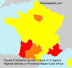 Surname Solferino in France