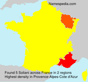 Surname Soliani in France