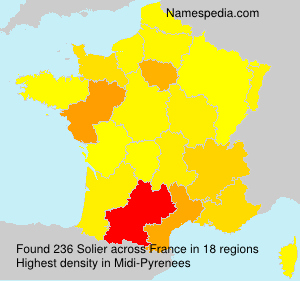 Surname Solier in France