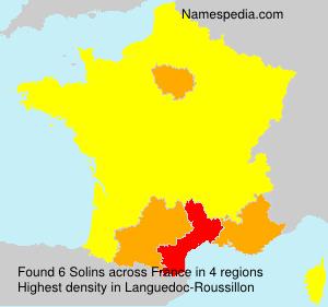 Surname Solins in France
