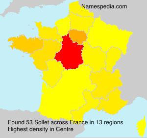 Surname Sollet in France