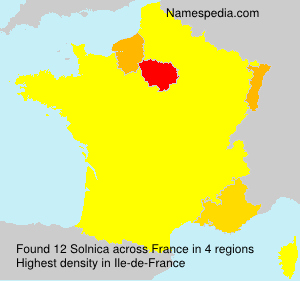 Surname Solnica in France
