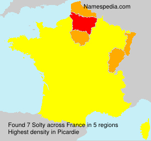 Surname Solty in France