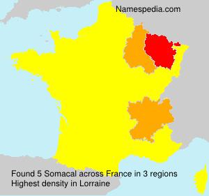 Familiennamen Somacal - France
