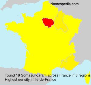 Familiennamen Somasundaram - France