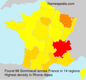 Surname Sommacal in France