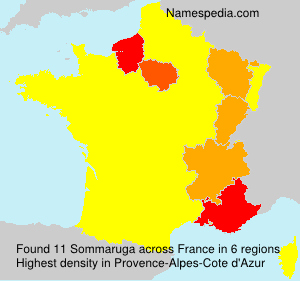 Surname Sommaruga in France
