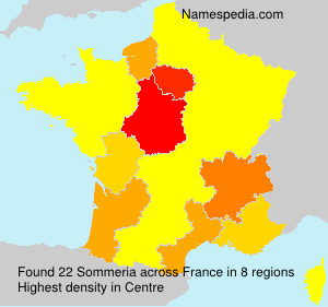 Surname Sommeria in France