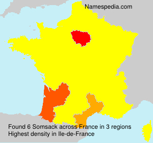 Surname Somsack in France