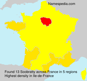 Surname Soobratty in France