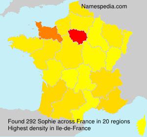 Surname Sophie in France