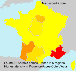 Surname Sorasio in France