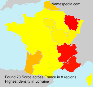 Surname Sorce in France